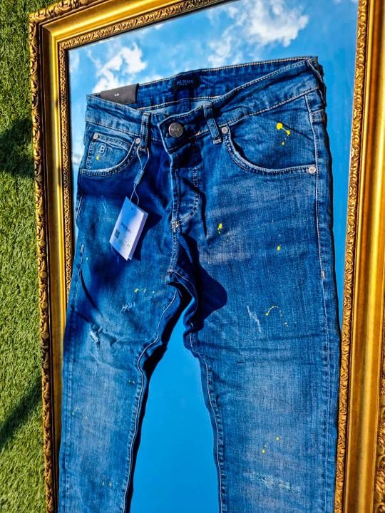 Мъжки сини напръскани дънки