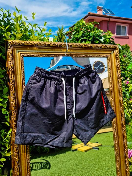 Мъжки черни шорти за плаж