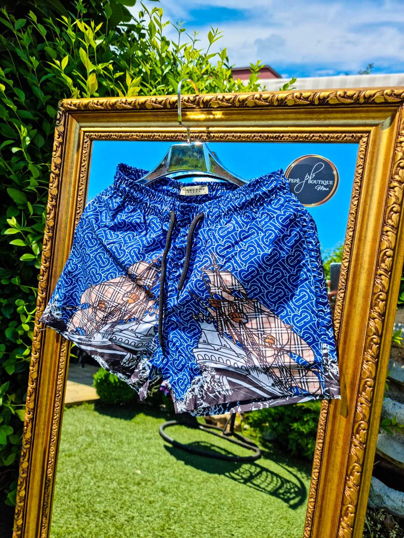 Мъжки сини плувни шорти