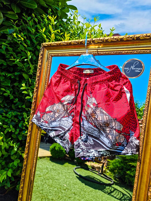 Мъжки червени плувни шорти