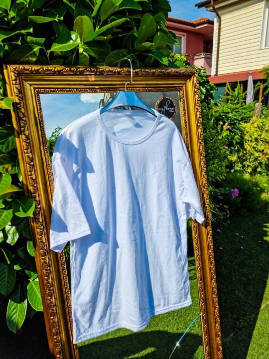 Мъжка Oversize бяла тениска