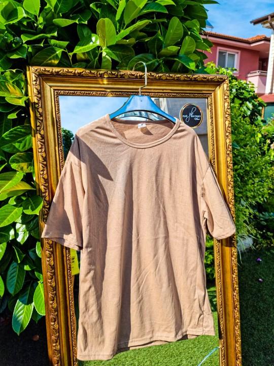 Мъжка Oversize бежава тениска