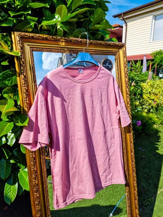 Мъжка тениска Oversize розова
