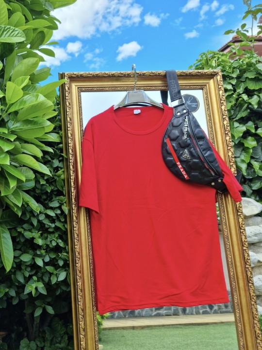 Мъжка тениска Oversize червена