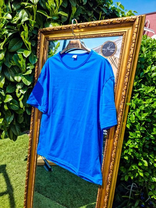 Мъжка тениска Oversize синя