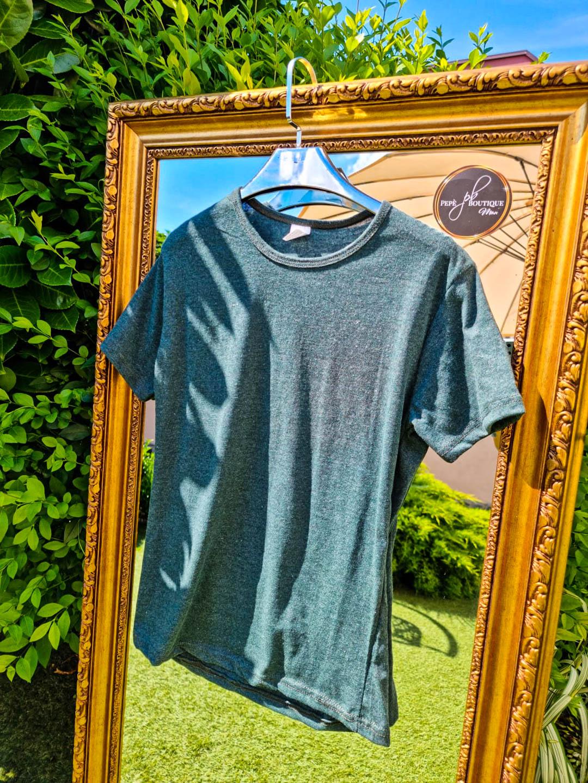 Мъжка тениска Classic тъмно зелена