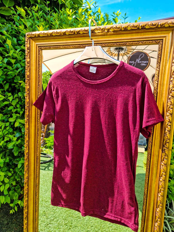 Мъжка тениска Classic винено червена