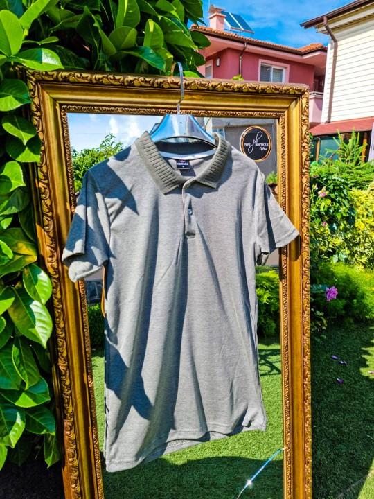 Мъжка тениска с яка Khaki