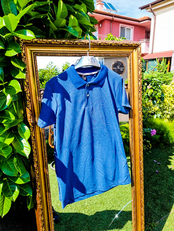 Мъжка тениска с яка Jeans Blue