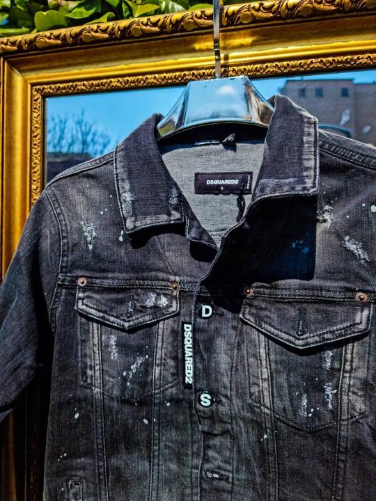 Мъжко черно дънково яке