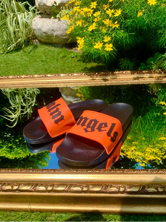 Мъжки оранжеви чехли